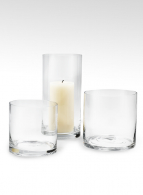 5x5, 6x6, and 5x10in Glass Cylinder Vases