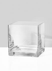 large square glass vase wedding centerpiece