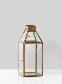 Small Square Gold Lantern
