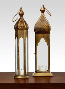 Antique Bronze Mahal & Taj Square Lantern