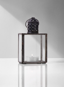 burnt antique metal mini lantern
