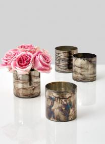 pink rose centerpiece mercury glass vase