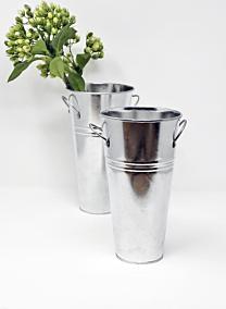 metal zinc french vase bucket with handles