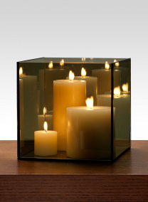 8in Reflective Mirror Candle Holder