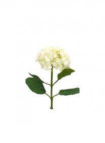 White Hydrangea Faux Silk Flowers Plant Stem L13501-WH