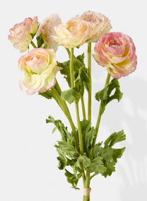 pink yellow ranunculus bouquet wedding flowers