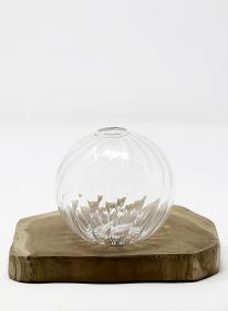 Optical Line Glass Ball Bud Vase