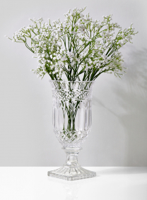 Leaf Etched Glass Urn