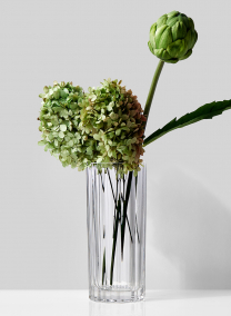 4 1/4 x 9 3/4in Optical Glass Round Vase