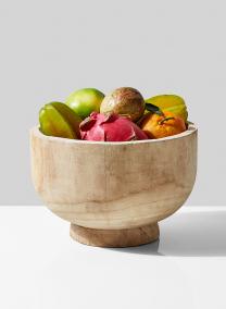 11in Round Paulownia Wood Bowl