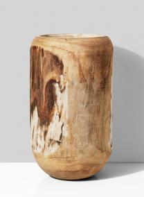 19 1/2in Wood Pot