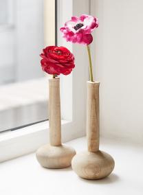 10 1/2in Paulownia Wood Bottle Vase