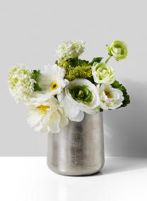 6in Tapered Nickel Vase
