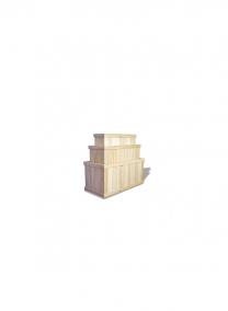24in Natural Cedar Rectangular Deck Planter