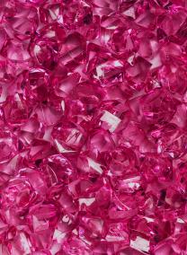 Hot Pink Acrylic Sea Glass