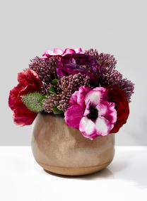 Taupe Ceramic Potter's Vase, 7in