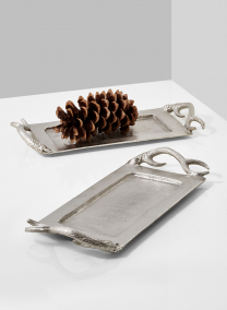 antler handle tray hunting lodge chic decor accents