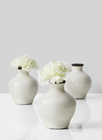 black and white glazed ceramic vase for wedding centerpieces