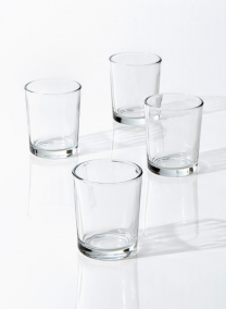 clear glass tealight and votive candle holder for parties weddings and events