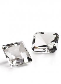2 x 1 1/2in Rectangular Glass Crystal Diamond