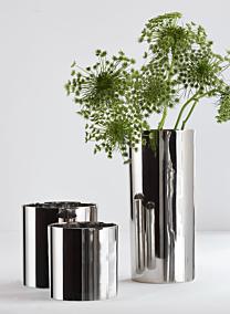 5in Nickel Plated Aluminum Cylinder Vase