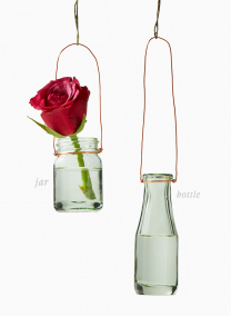 mexican green hanging bud vases