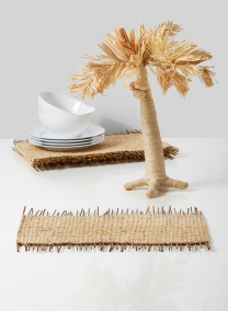 natural raffia stick placemat set of 6 tablesetting