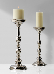 nickel pillar candle holders wedding event centerpiece