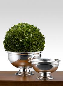 7in H Silver Pedestal Bowl