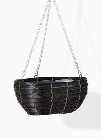 wood hanging basket