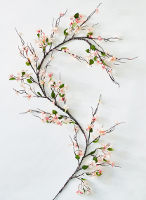 pink dogwood flower garland wedding ceremony decorations