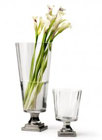 Platinum Pedestal Vases