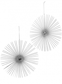 10in Silver Glitter Starburst Disk