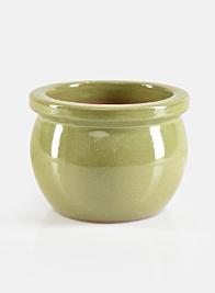 7in Marble Avocado Glazed Pot