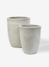 7in & 11in White Tall Ceramic Pot