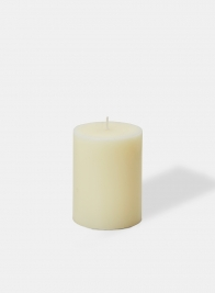 3 X 4in Ivory Pillar Candle