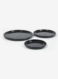 Black Glazed Ceramic Saucers