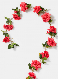 6ft Pink Rose Garland