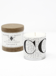 Blithe & Bonny Coconut Scented Candle