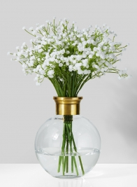 7in Ball Vase With Gold Rim