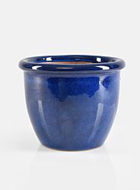 7in Round Blue Pot