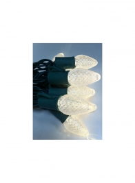 35 Soft White C7 L.E.D. Light Set on Green Wire