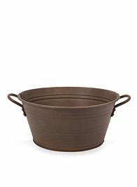 Copper Rust Zinc Oval Bucket