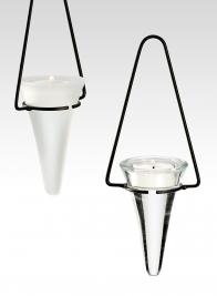 White Frost Cone Tea Light Holder