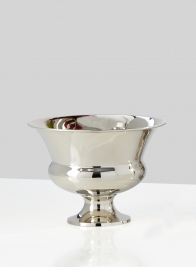 nickel bowl floral centerpiece compote