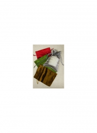 Large Red Organza+Velvet Pouch