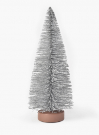 Silver Frost Glittered Tabletop Christmas Tree
