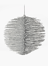 Silver Glitter Brush Ornament Ball