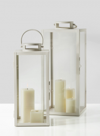 antique white square lantern