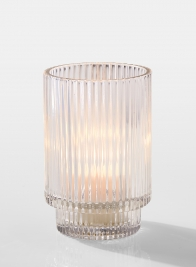 5in Pleated Glass Votive Holder